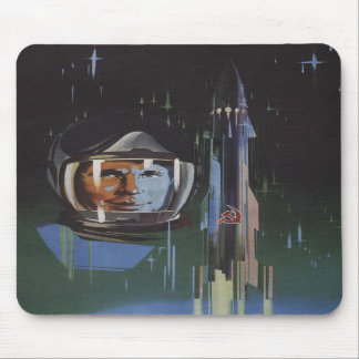 Mousepad with Retro USSR Space Program Propaganda