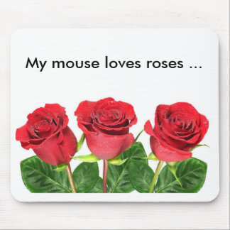 Mousepad with roses