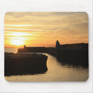 Mousepad with scenic sunset at Burghead Harbour