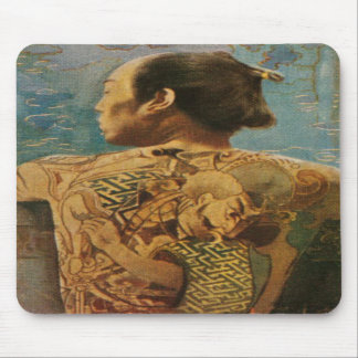 Mousepad With Tattooed Man From 1920's Japan