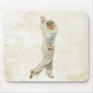 Mousepad with Vintage Golf Player