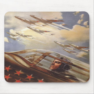 Mousepad with Vintage USSR Air Force Propaganda