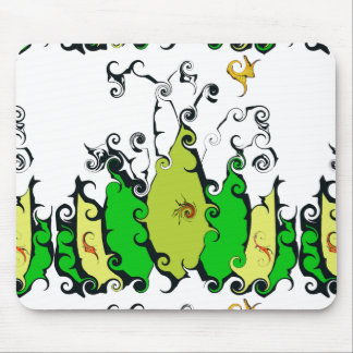 Mousepad with Wild, Leafy Design