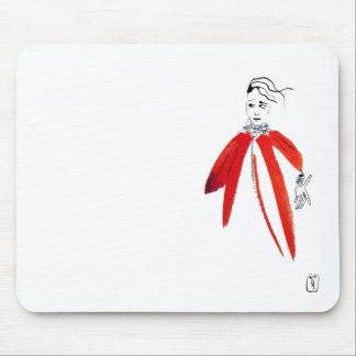 mousepad women in red