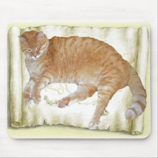 Mousepad Yellow Tiger Cat
