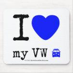 i [Love heart]  my vw [Campervan]  i [Love heart]  my vw [Campervan]  Mousepads
