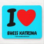 i [Love heart]  bhess katrina i [Love heart]  bhess katrina Mousepads
