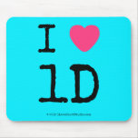 i [Love heart]  1d  i [Love heart]  1d  Mousepads