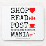 shop [Love heart]  read [Feet]  post [Cup]  this is chic boutique mania [Electric guitar]   shop [Love heart]  read [Feet]  post [Cup]  this is chic boutique mania [Electric guitar]   Mousepads