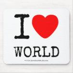 I Love Heart World Mousepads