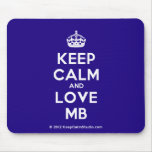 [Crown] keep calm and love mb  Mousepads
