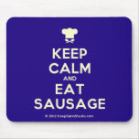 [Chef hat] keep calm and eat sausage  Mousepads