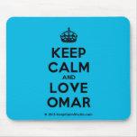 [Crown] keep calm and love omar  Mousepads