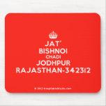 [Crown] jat' bishnoi chadi jodhpur rajasthan-342312  Mousepads