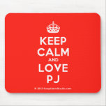 [Crown] keep calm and love pj  Mousepads