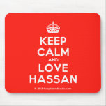 [Crown] keep calm and love hassan  Mousepads