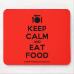 [Cutlery and plate] keep calm and eat food  Mousepads