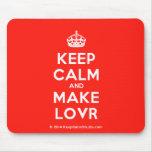 [Crown] keep calm and make lovr  Mousepads