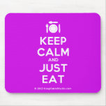 [Cutlery and plate] keep calm and just eat  Mousepads