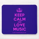 [Dancing crown] keep calm and love music  Mousepads