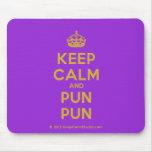 [Crown] keep calm and pun pun  Mousepads