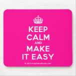 [Crown] keep calm and make it easy  Mousepads