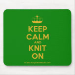 [Knitting crown] keep calm and knit on  Mousepads