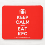[Cutlery and plate] keep calm and eat kfc  Mousepads