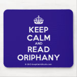 [Crown] keep calm and read oriphany  Mousepads