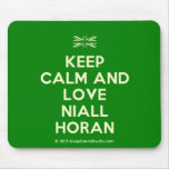 [UK Flag] keep calm and love niall horan  Mousepads