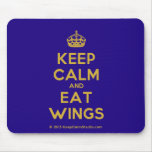 [Crown] keep calm and eat wings  Mousepads
