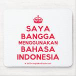 [Crown] saya bangga menggunakan bahasa indonesia  Mousepads