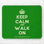 [Crown] keep calm and walk on  Mousepads