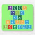 KEEP CALM AND HAPPY BIRTHDAY  Mousepads