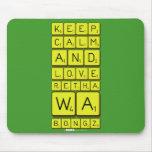 keep calm and love Retha wa Bongz  Mousepads