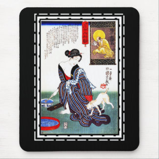 Mousepads Art Japanese Lady Vintage Poster Utagawa