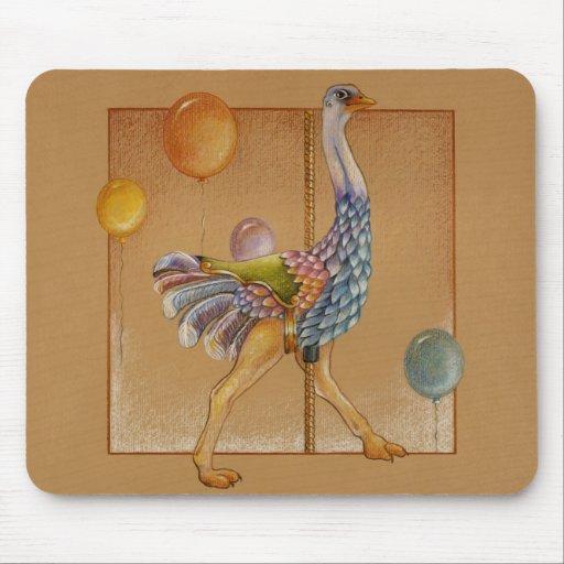 Mousepads - Carousel Ostrich