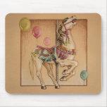 Mousepads - carrusel feliz del caballo alfombrilla de ratón