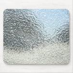 Mousepads con una textura de la plata metalizada