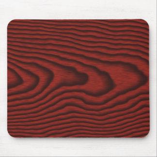 Mousepads con una textura de madera roja tapete de raton