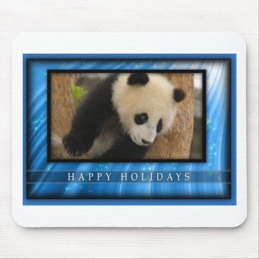 Mousepads de las pandas del oso y del bebé de pand tapete de raton