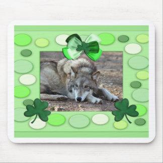 Mousepads de St Patrick con los lobos grises Alfombrilla De Ratones