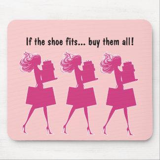 Mousepads divertido femenino rosado