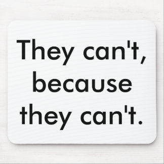 Mousepads for Realists