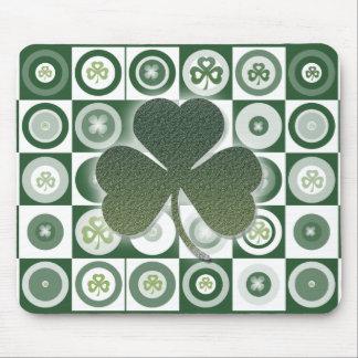 Mousepads irlandeses de los tréboles alfombrillas de ratones
