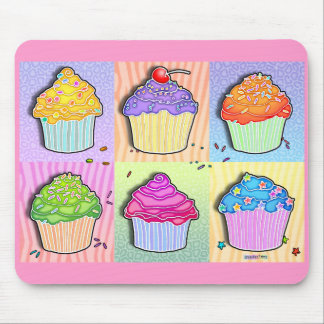 Mousepads - Pop Art Cupcakes