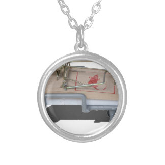 MouseTrapOnGurney092715.png Silver Plated Necklace