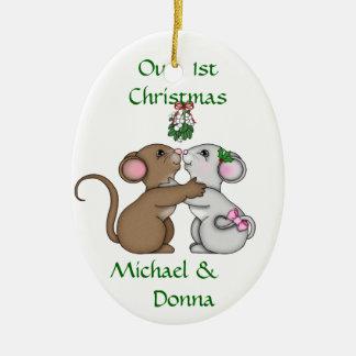 Mousey Love Christmas Christmas Tree Ornament