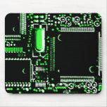 Mouspad del verde 2 del circuito tapete de ratones