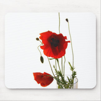 Mousse pad poppies mouse pad